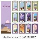 calendar minimalistic window... | Shutterstock .eps vector #1861738012