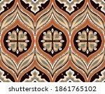 ikat border. geometric folk...   Shutterstock .eps vector #1861765102