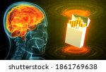 holographic human head image...