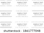 set of flat and simple line... | Shutterstock .eps vector #1861777048