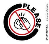 no applause icon on white... | Shutterstock .eps vector #1861780138