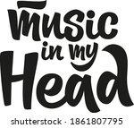 music in my head hand drawn... | Shutterstock .eps vector #1861807795