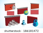 collection of firewall symbol... | Shutterstock .eps vector #186181472
