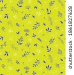 elegant seamless pattern with... | Shutterstock .eps vector #1861827628