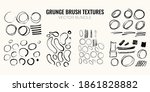 gruhge handdrawn brush texture... | Shutterstock .eps vector #1861828882