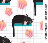 Cute Kawaii Black Sleeping Cats ...