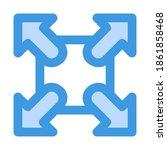 fullscreen icon in blue style...