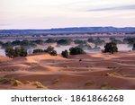 Scenic View Of Sahara Desert...