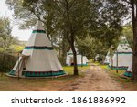 A Large Traditional Teepee Tent ...