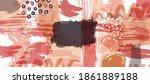 watercolor background. brush... | Shutterstock .eps vector #1861889188