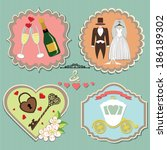 a set of labels with the... | Shutterstock .eps vector #186189302