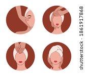 face care. beauty salon....   Shutterstock .eps vector #1861917868