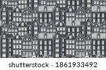 amsterdam houses. urban... | Shutterstock .eps vector #1861933492