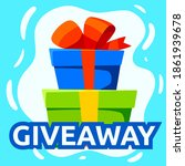 giveaway winner gift. free give ... | Shutterstock .eps vector #1861939678