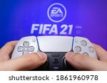 Man Play Fifa 21 With...