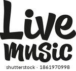 live music unique hand drawn... | Shutterstock .eps vector #1861970998
