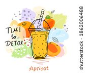 smoothies or detox cocktail day ... | Shutterstock .eps vector #1862006488