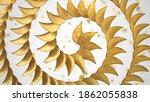 spirally sorted crunchy potato... | Shutterstock . vector #1862055838