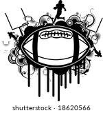 black grunge football