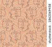abstract faces seamless pattern ...   Shutterstock .eps vector #1862069458
