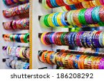 indian bangles in a shop | Shutterstock . vector #186208292