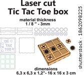 tic tac toe board game laser... | Shutterstock .eps vector #1862098225