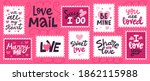 love mail stamp. hand drawn... | Shutterstock .eps vector #1862115988