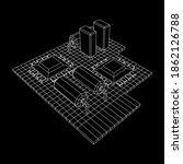 circuit board. electronic...   Shutterstock .eps vector #1862126788