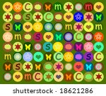 colors and each kind of shape | Shutterstock . vector #18621286