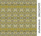 Gray Dyed Textile. Yellow...