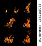 bright flames in hearth on... | Shutterstock . vector #1862165788