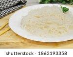 konjac or shirataki noodles... | Shutterstock . vector #1862193358