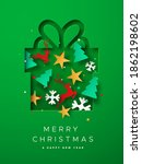 merry christmas happy new year... | Shutterstock .eps vector #1862198602