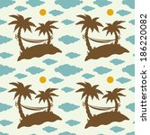 seamless pattern with... | Shutterstock .eps vector #186220082