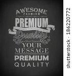 calligraphic design elements... | Shutterstock .eps vector #186220772