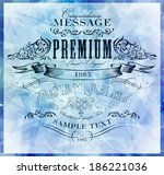 vintage ornament calligraphic... | Shutterstock .eps vector #186221036