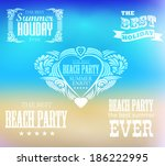 elements for summer holidays... | Shutterstock .eps vector #186222995
