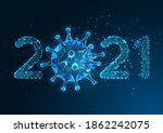 futuristic pandemic new year...   Shutterstock .eps vector #1862242075