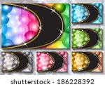 a set of colored backgrounds | Shutterstock .eps vector #186228392