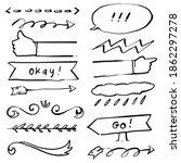 arrow icon doodle simple line | Shutterstock .eps vector #1862297278
