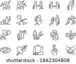 betray line icon set. included... | Shutterstock .eps vector #1862304808