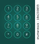phone keypad in touchscreen... | Shutterstock .eps vector #186233855