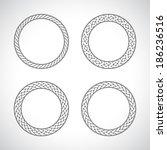 ornament circle round set black | Shutterstock .eps vector #186236516