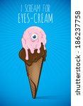 zombie ice cream | Shutterstock .eps vector #186237758