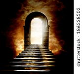 staircase leading to heaven or... | Shutterstock . vector #186238502