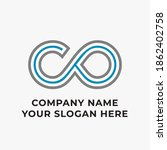infinity vector logo image icon | Shutterstock .eps vector #1862402758