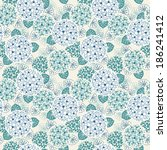 vector seamless floral pattern. ... | Shutterstock .eps vector #186241412