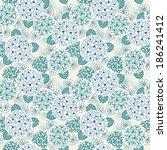 vector seamless floral pattern. ... | Shutterstock .eps vector #186241412