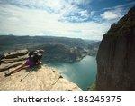 preikestolen  norway    june 9  ... | Shutterstock . vector #186245375