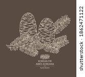 background with korean fir ... | Shutterstock .eps vector #1862471122